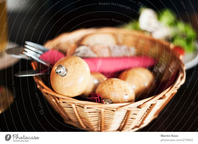 basics Food Vegetable Bread Herbs and spices Cooking salt Pepper Pepper mill Nutrition Lunch Buffet Brunch Vegetarian diet Cutlery Bread basket Lifestyle Design