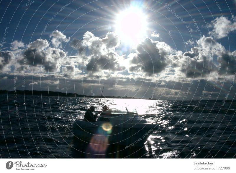 Water Sun Clouds Watercraft Baltic Sea