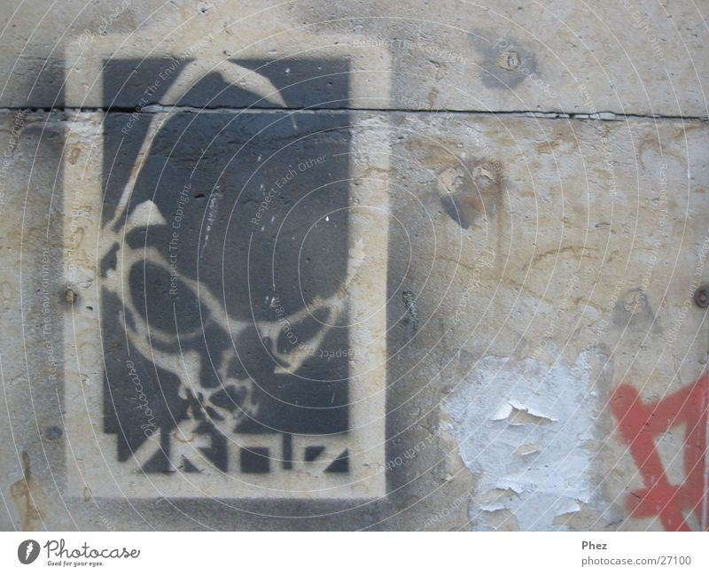 spray alien Wall (building) Sandstone Poster Stencil Dirty Anarchy Scrap Wall (barrier) Street art Photographic technology Shabby Graffiti