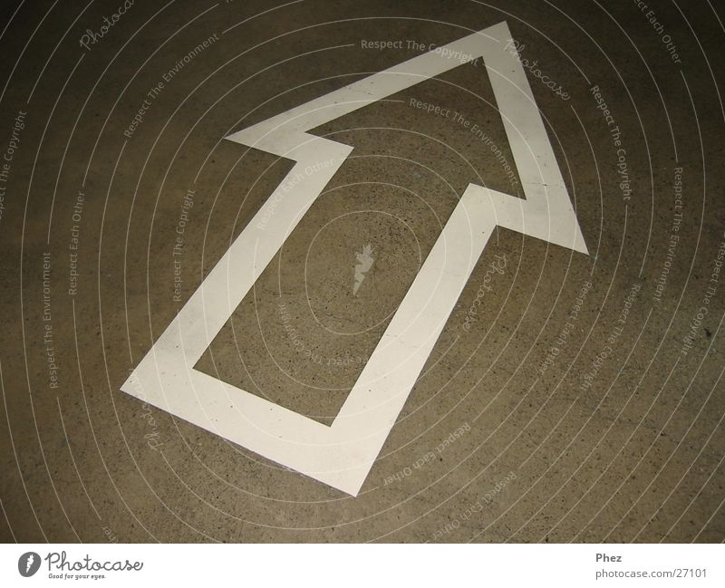 Floor covering Point Arrow Direction Photographic technology