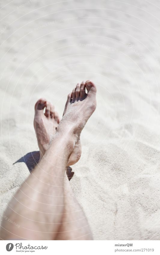 Vacation & Travel Summer Sun Ocean Beach Loneliness Calm Relaxation Coast Sand Legs Feet 2 Art Contentment Leisure and hobbies