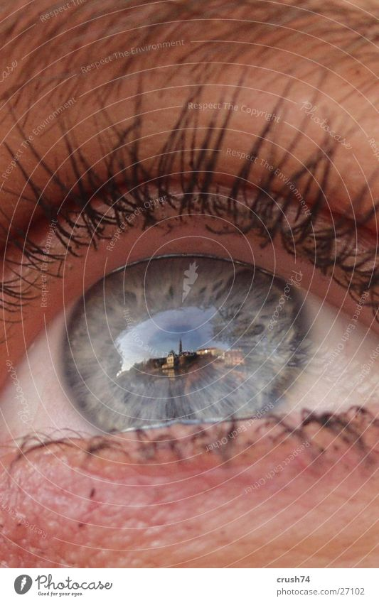 Human being Eyes Perspective Large Historic Bavaria Macro (Extreme close-up) Niederbayern Face Reflection Landshut