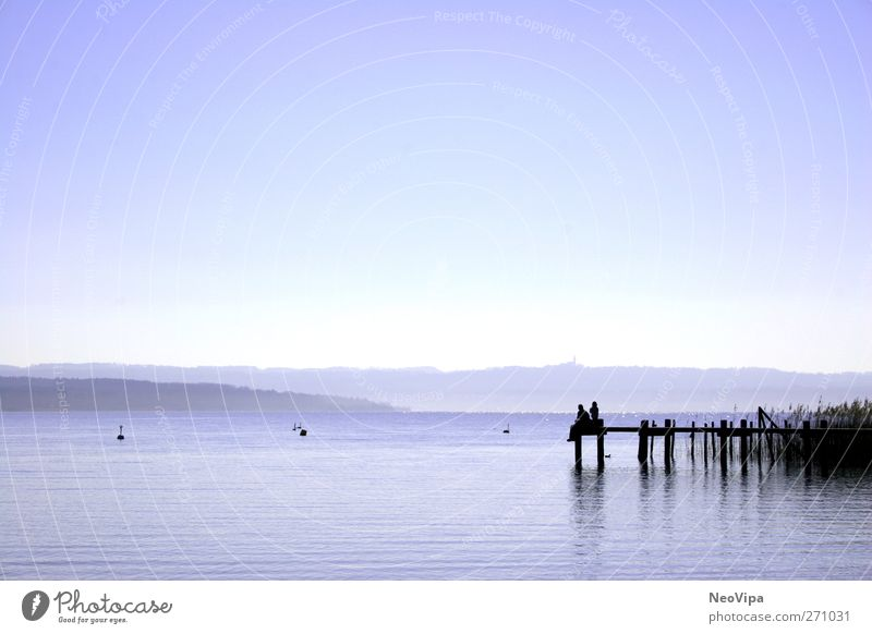 Chill out at the Ammersee Joy Life Relaxation Calm Meditation Leisure and hobbies Vacation & Travel Far-off places Freedom Father Adults Nature Air Water Lake