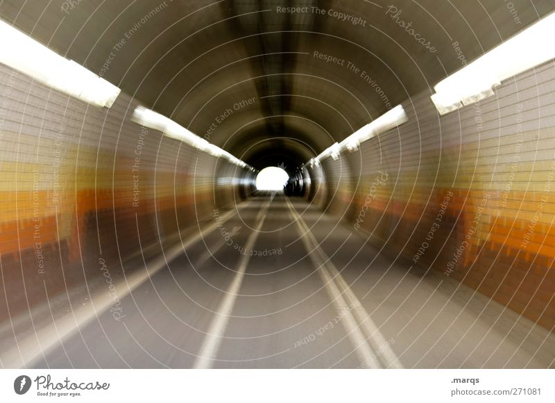 Street Lanes & trails Style Brown Beginning Transport Speed Perspective Lifestyle Future Cool (slang) Retro Target Traffic infrastructure Tunnel Road traffic