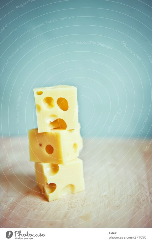 Blue Yellow Funny Nutrition Food Creativity Idea Part Delicious Hollow Organic produce Brash Humor Stack Cube Cheese