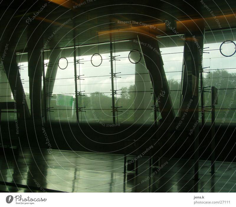 Architecture Transport Train station Column Glas facade