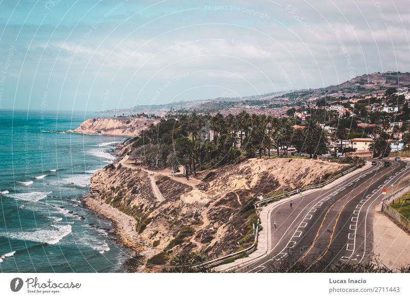 Oceanview from California Coast, United States Vacation & Travel Tourism Summer Beach Mountain House (Residential Structure) Environment Nature Landscape Sand