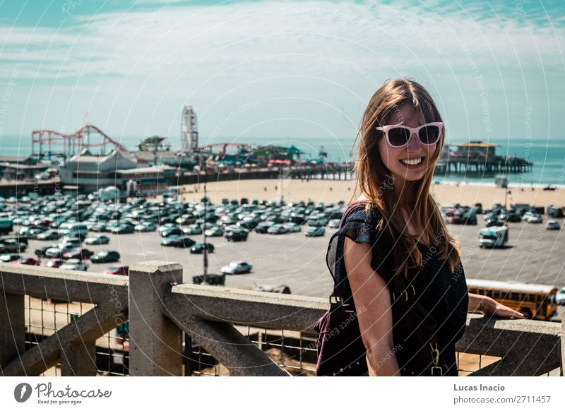 Girl in Santa Monica, California Vacation & Travel Tourism Summer Woman Adults Environment Nature Sky Clouds Skyline Vehicle Car Sunglasses Blonde Red-haired