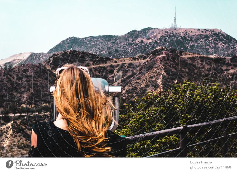 Girl near Hollywood Hills in Los Angeles, California Vacation & Travel Tourism Summer Mountain Garden Human being Feminine Young woman Youth (Young adults)