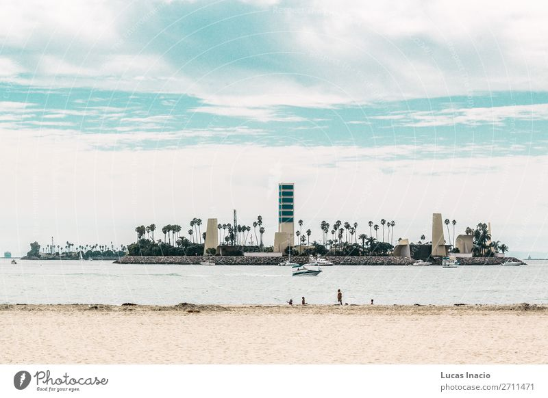 Island at Long Beach, Los Angeles Vacation & Travel Tourism Summer Office Business Environment Nature Landscape Clouds Tree Leaf Downtown High-rise Building