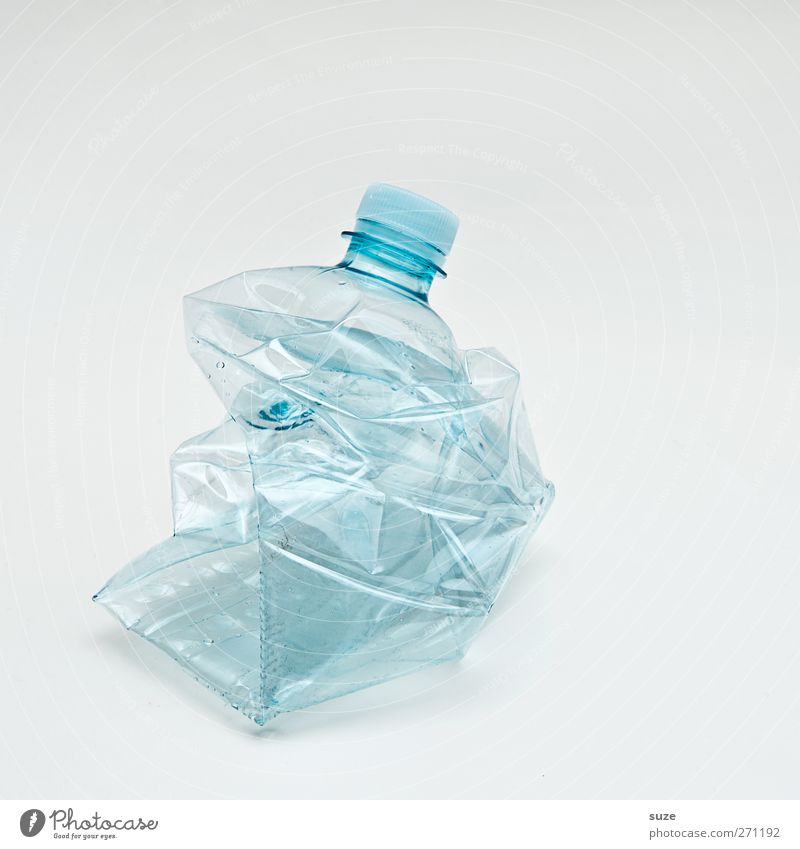 Environment Bright Empty Broken Clarity Clean Plastic Trash Bottle Transparent Environmental protection Thirst Plastic packaging Recycling Cap Packaging