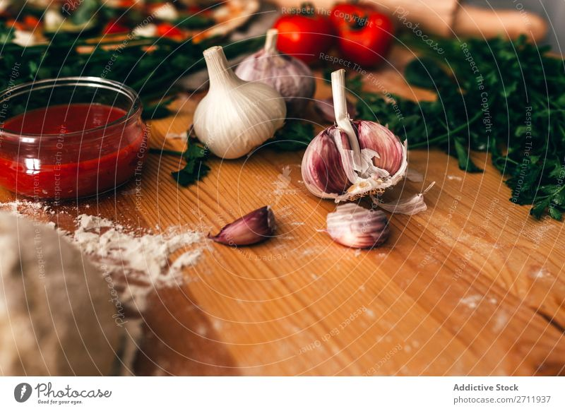 Arrangement of ingredients and dough for delicious pizza Pizza Ingredients Cooking Rustic Italian Tradition Delicious Gourmet Background picture Preparation