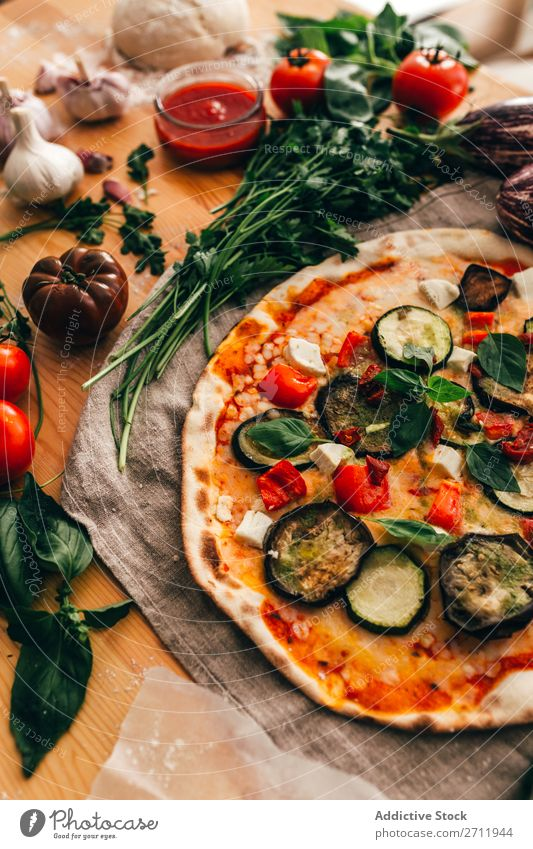Arrangement of ingredients and pizza composition Pizza Ingredients Cooking Rustic Italian Tradition Delicious Gourmet Background picture Preparation Kitchen