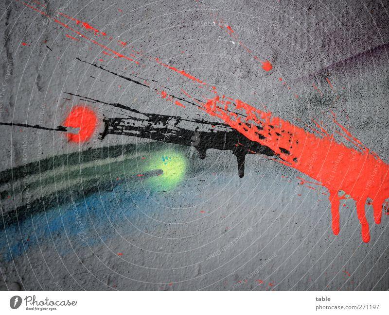 Blue City Red Colour Black Yellow Graffiti Emotions Wood Gray Art Line Esthetic Illuminate Change Cool (slang)