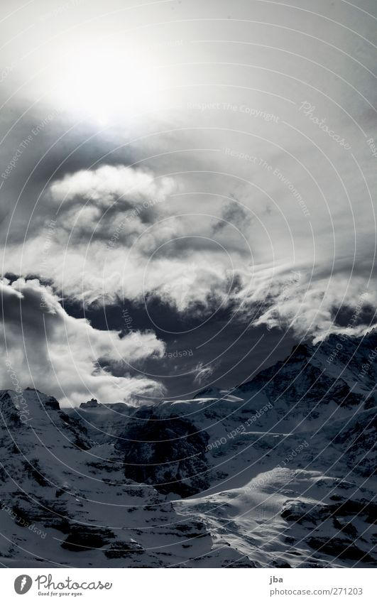 Sky Nature Old Winter Clouds Environment Landscape Snow Mountain Air Rock Tall Trip Tourism Elements Threat