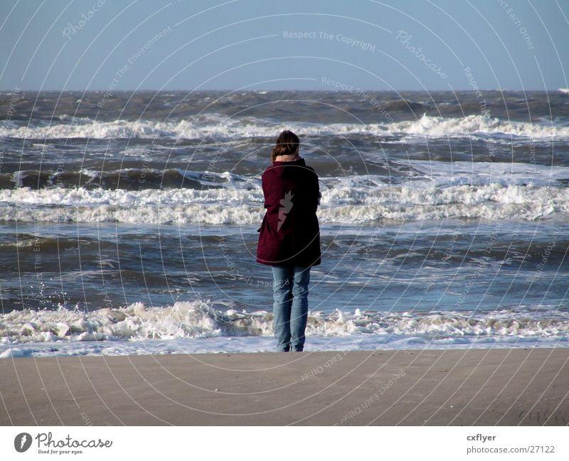 Woman Water Ocean Beach Sand Waves Surf