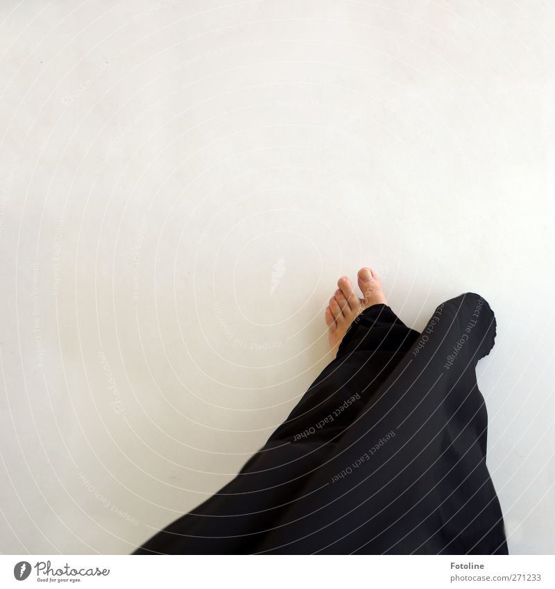 Black/White is the new colour Human being Feminine Woman Adults Feet 1 Bright Toes Toenail Costume Rock music Cloth Dynamics Going Walking Colour photo