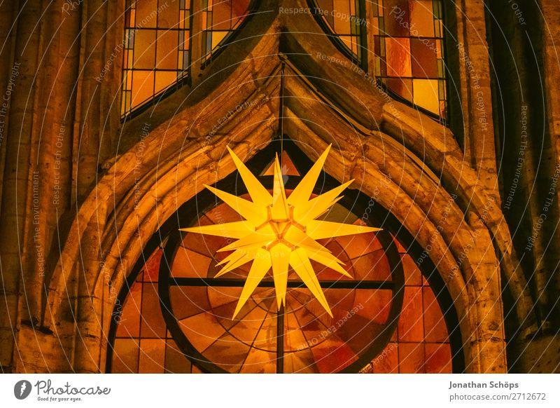 Christmas & Advent Religion and faith Facade Illuminate Church Star (Symbol) Hope Tradition Middle Hang Christianity Prongs Christmas star Church window