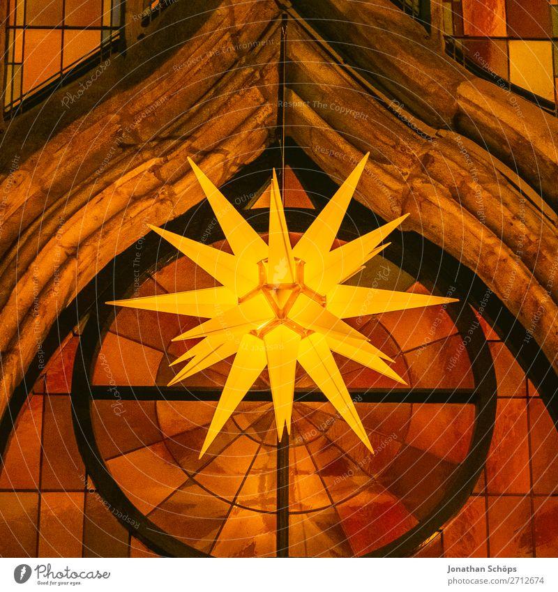 Christmas & Advent Religion and faith Facade Illuminate Church Glass Wait Star (Symbol) Hope Tradition Hang Christianity Come Prongs Christmas star