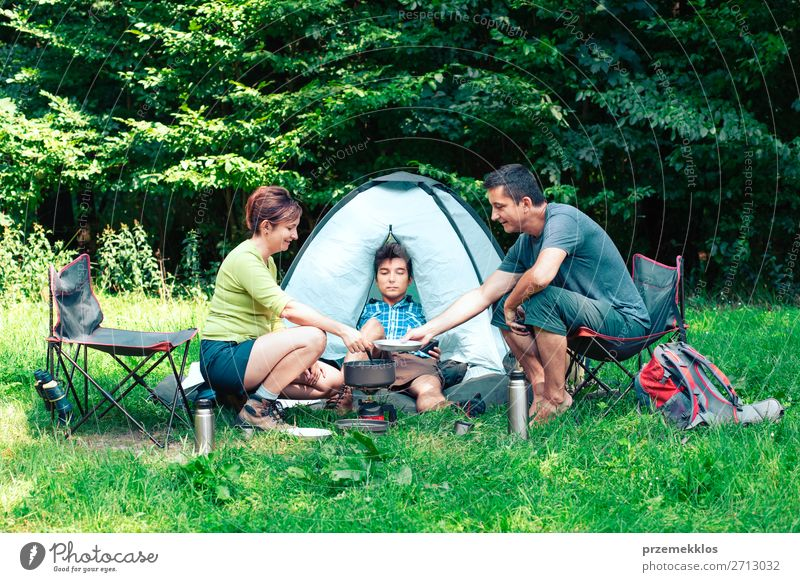 Spending a vacation on camping Lifestyle Relaxation Vacation & Travel Tourism Adventure Camping Summer Summer vacation Woman Adults Man 3 Human being