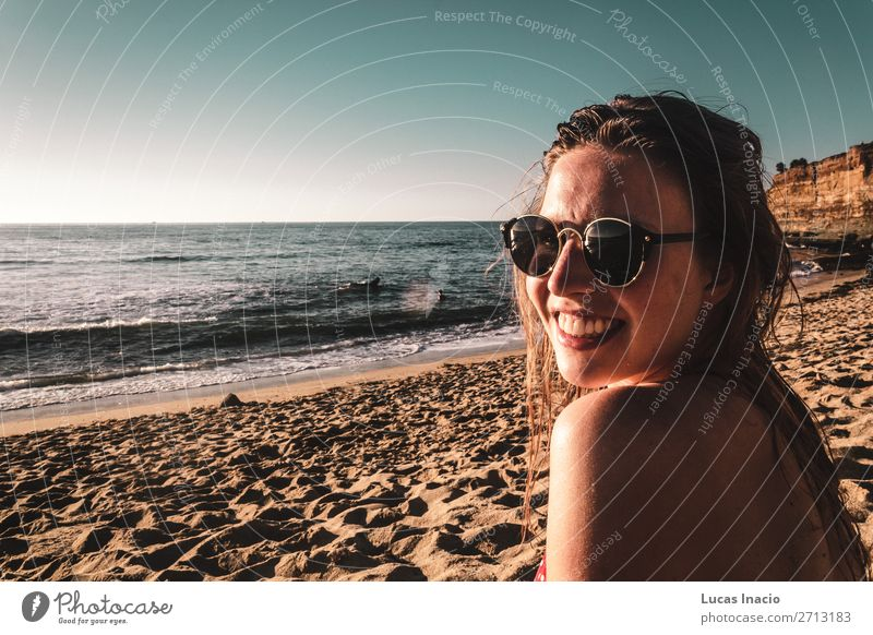 Stylish Girl at the Beach in California Vacation & Travel Tourism Summer Human being Feminine Young woman Youth (Young adults) Woman Adults 1 Environment Nature