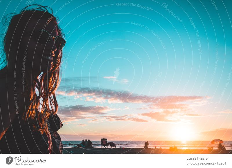 Girl at Coronado Beach, San Diego Vacation & Travel Tourism Trip Adventure Freedom Summer Summer vacation Sun Sunbathing Ocean Waves Human being Feminine