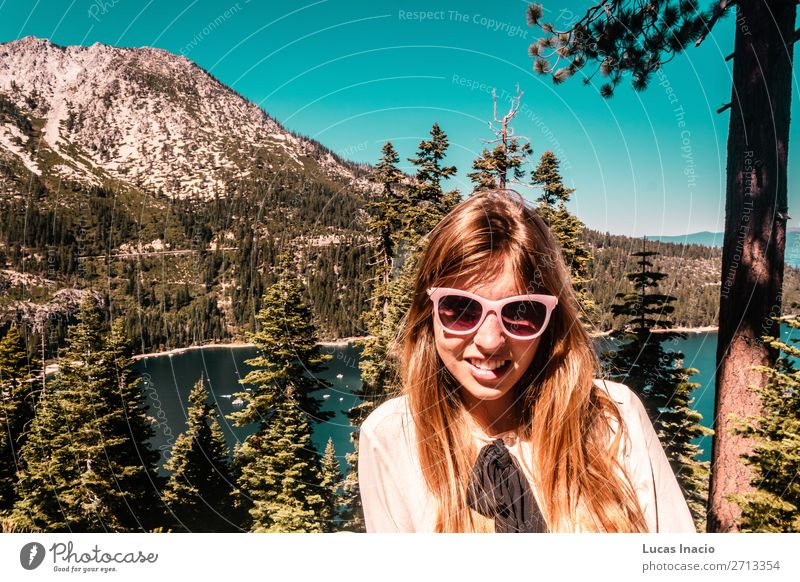 Girl near Lake Tahoe, California Vacation & Travel Tourism Summer Mountain Garden Human being Feminine Young woman Youth (Young adults) Woman Adults 1