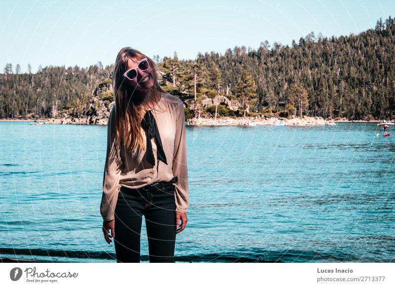 Girl near Lake Tahoe, California Vacation & Travel Tourism Summer Mountain Garden Human being Feminine Young woman Youth (Young adults) Woman Adults 1