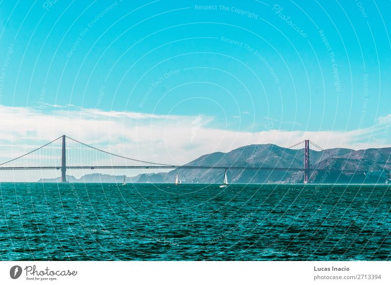 Golden Gate Bridge in San Francisco, California Vacation & Travel Tourism Summer Beach Ocean Environment Nature Sand Sky Coast Skyline Building Architecture
