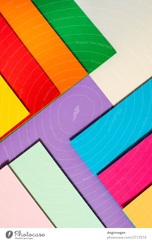 Colorful folded paper material design. Blue Colour Green Yellow Art Pink Design Paper Stripe Wallpaper Still Life Craft (trade) Material Rainbow Surface