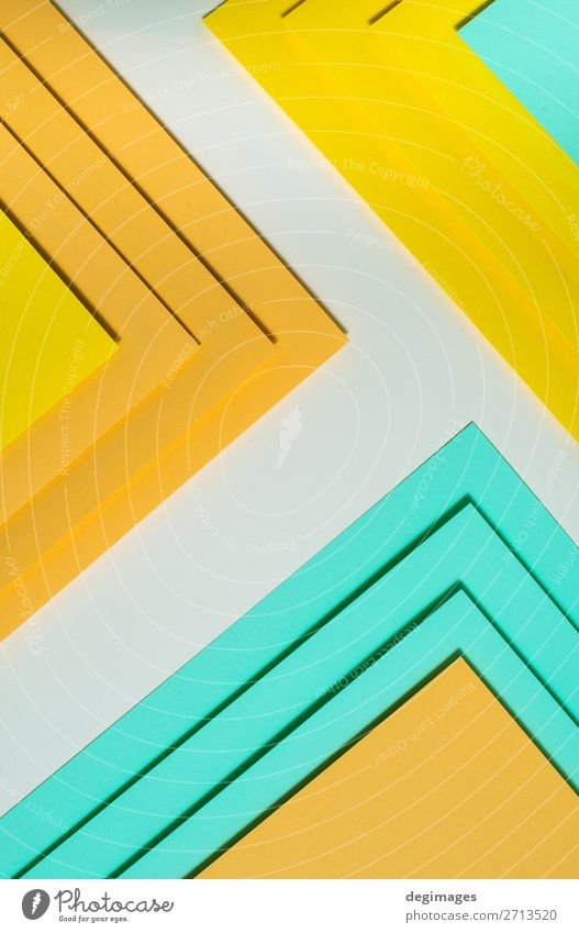 Colorful polygon paper design. Pastel tones geometric Blue Colour Green Yellow Art Pink Design Retro Paper Stripe Wallpaper Still Life Material Surface