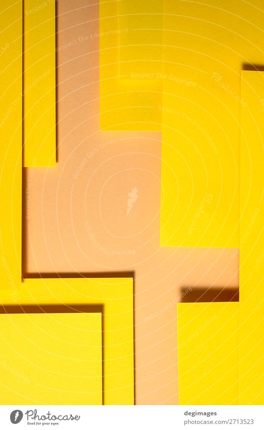 Yellow paper material design. Geometric unicolour shapes Colour Art Design Line Retro Paper Stripe Wallpaper Still Life Craft (trade) Material Curve Surface