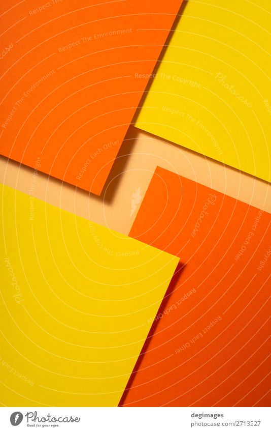 Yellow and orange color paper material design. Geometric Colour Art Design Line Retro Paper Stripe Wallpaper Still Life Craft (trade) Material Curve Surface