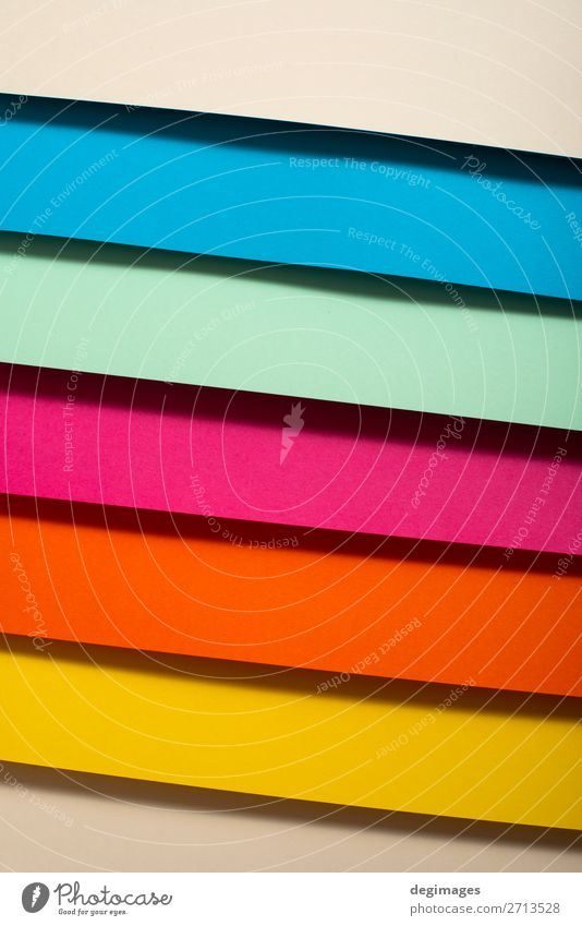 Colorful folded paper material design. Colour spectrum. Blue Green Yellow Art Pink Design Paper Stripe Wallpaper Still Life Craft (trade) Material Rainbow