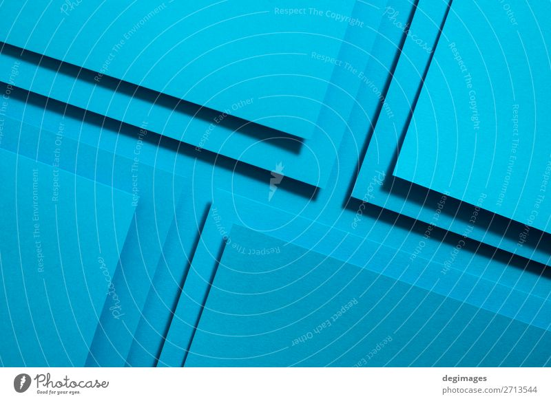 Blue paper material design. Geometric unicolour shapes Colour Art Design Line Retro Paper Stripe Wallpaper Still Life Craft (trade) Material Curve Surface