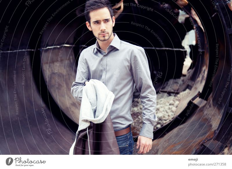 break off Masculine Young man Youth (Young adults) 1 Human being 18 - 30 years Adults Fashion Beautiful Colour photo Exterior shot Day Upper body Front view