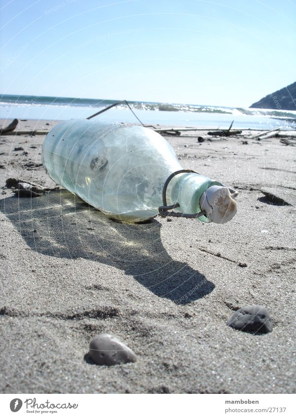 message in a bottle Ocean Beach Mysterious Bottle