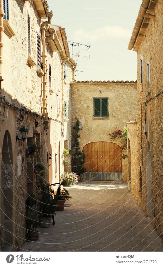 Vacation & Travel City Street Warmth Contentment Climate Car door Romance Idyll Italy Village Gate Spain Alley Old town Mediterranean