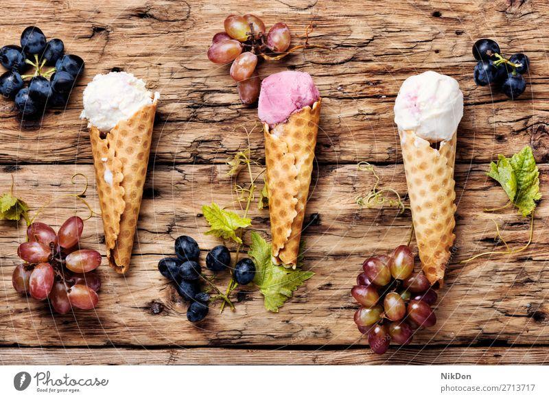 Grape flavored ice cream icecream food sweet berry grape vanilla waffle ice-cream dessert grape ice cream summer delicious cold scoop cone tasty frozen fresh