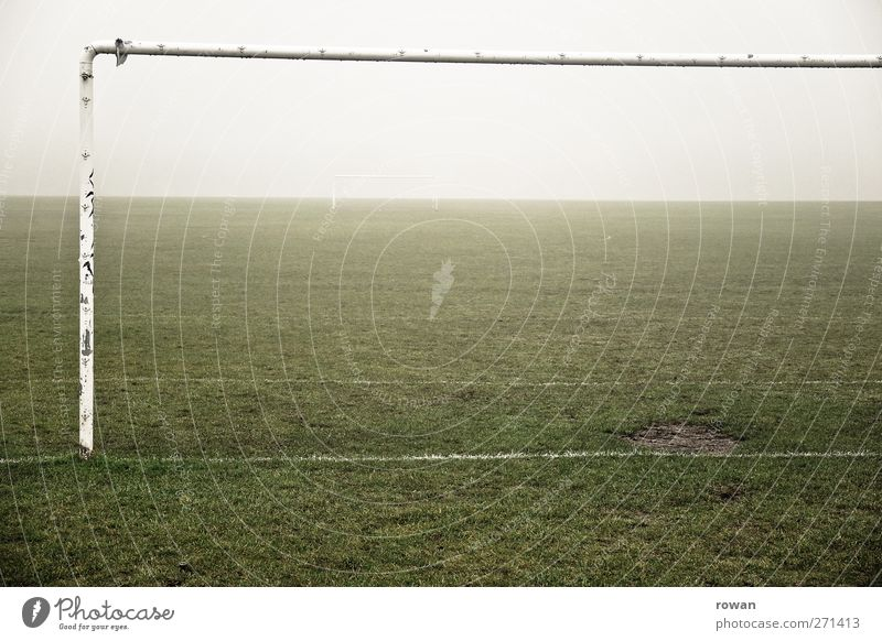 Old Green Dark Meadow Cold Playing Rain Wind Fog Leisure and hobbies Soccer Empty Gloomy Fitness Storm Goal