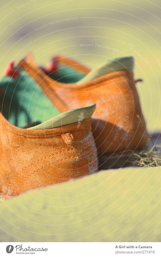 Green Sand Fashion Orange Footwear Clothing Comfortable Accessory Buckskin Leather shoes