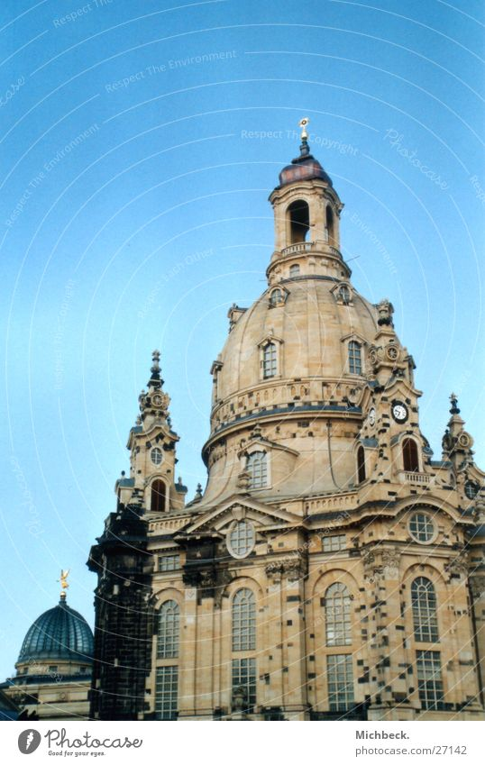 Religion and faith Dresden Landmark House of worship Saxony Sandstone Frauenkirche Lemon squeezer