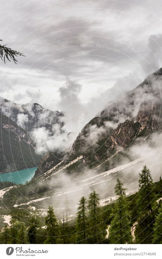 Bad weather at Bragser Wildsee/Lago di Braies Vacation & Travel Tourism Trip Adventure Far-off places Freedom Mountain Hiking Environment Nature Landscape Plant