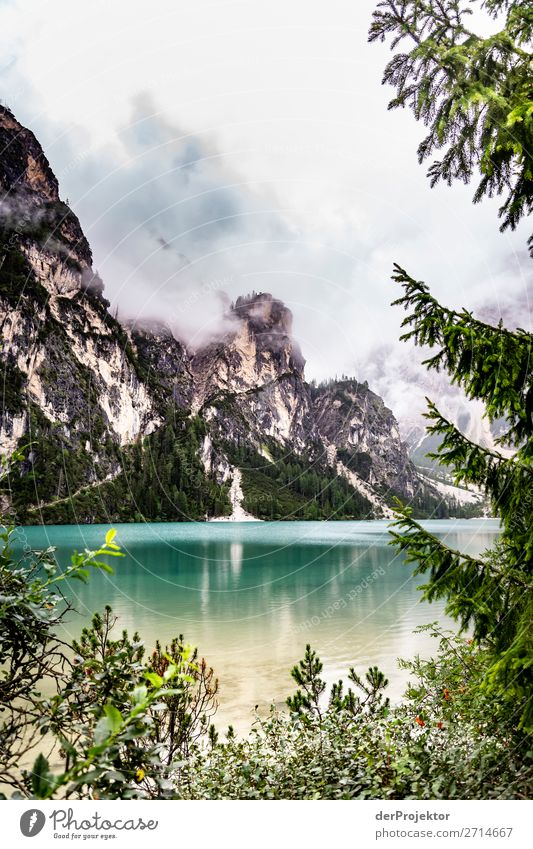 Bad weather at Lago di Braies/Pragser Wildsee Vacation & Travel Tourism Trip Adventure Far-off places Freedom Mountain Hiking Environment Nature Landscape Plant