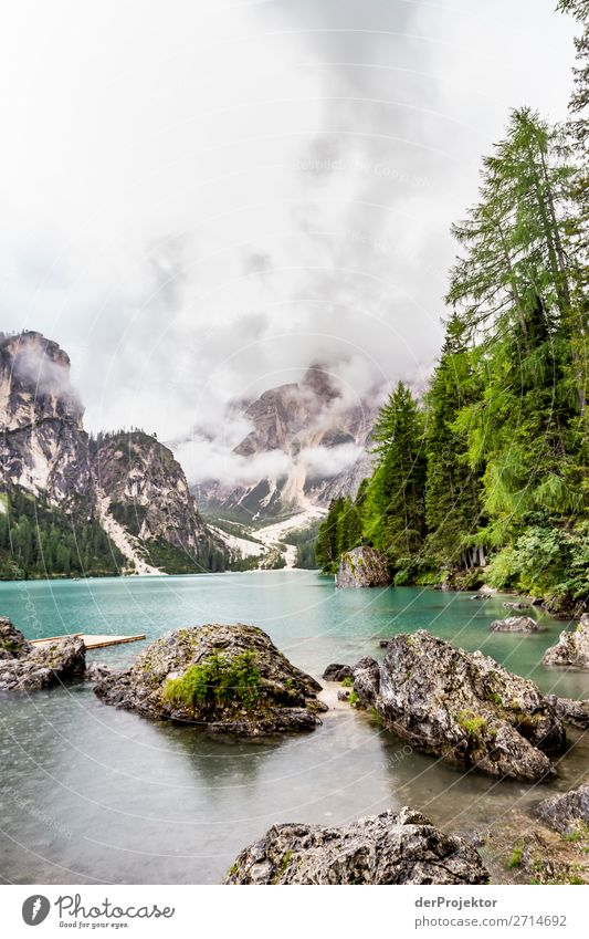 Lago di Braies without jetty and without boats Vacation & Travel Tourism Trip Adventure Far-off places Freedom Mountain Hiking Environment Nature Landscape