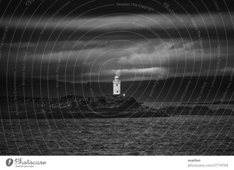 Sky Nature Landscape Ocean Clouds Dark Spring Coast Rock Island Iceland Lighthouse Maritime Fjord Bad weather