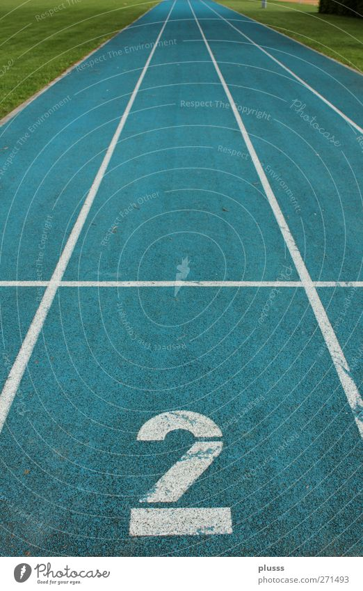 lane 2 Sports Fitness Sports Training Track and Field Success Sporting Complex Racecourse Running Tracks Focus on Blue Green athletics track Walking