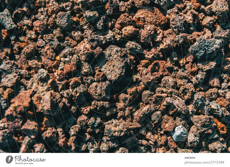 Detail of volcanic rocks Wallpaper Nature Earth Rock Stone Dark Natural Strong Brown Gray Ground Volcanic volcanic soil Geology background close up geological