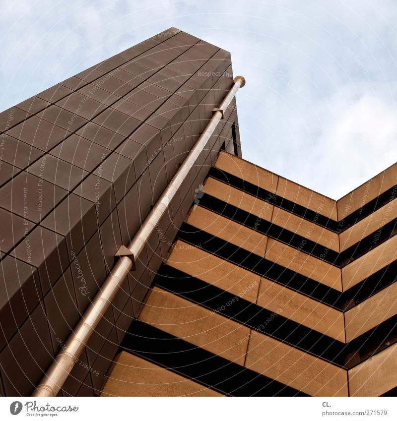 skyscraper Town Deserted High-rise Manmade structures Building Architecture Wall (barrier) Wall (building) Facade Balcony Tall Brown Gray Modern