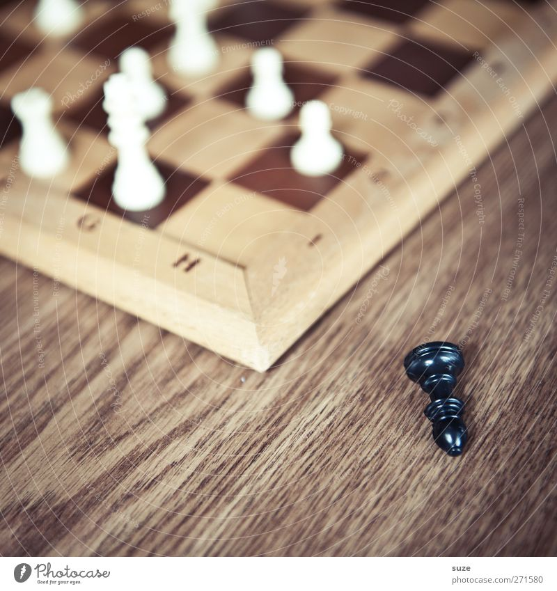 Running and falling Leisure and hobbies Playing Board game Chess Wood Think Lie Brown Black White Concentrate Chess piece Chessboard Wooden board Piece Corner